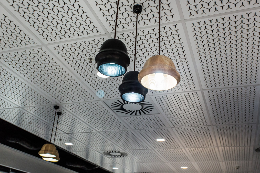 Medibank ceiling with hanging lights