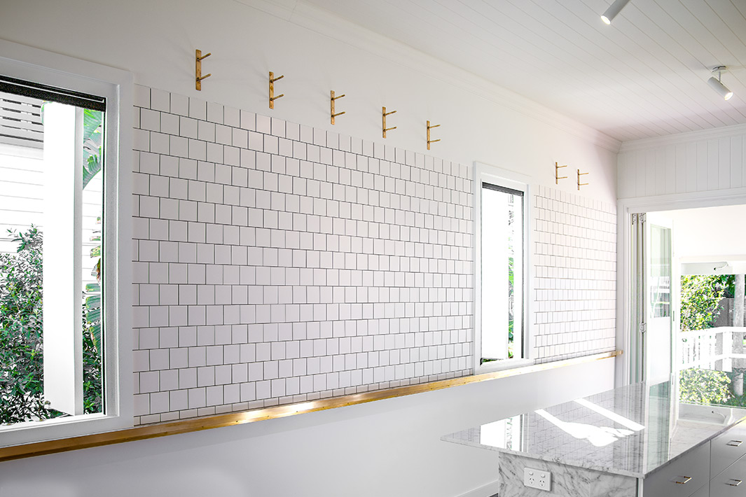 white interior wall at house on McGregor Street, Clayfield